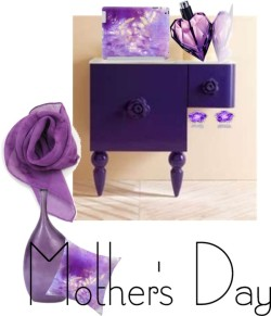 Mother's Day Gift Guide por akaclem con purple scarves ❤ liked on PolyvoreKiki mcdonough diamond pave earrings / Purple scarve / Diesel  perfume