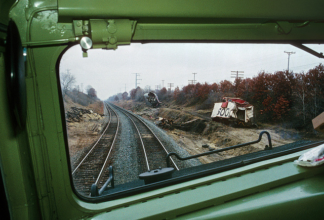 Passing a derailment site by Moffat Road on Flickr.