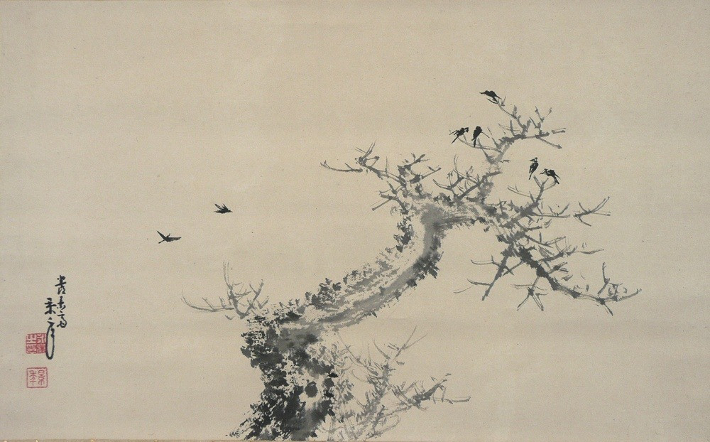 iamjapanese:  IMAO Keinen(今尾 景年 Japanese, 1845-1924 IMAO Keisho's father) 古木寒鴉図