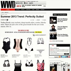 #leeandlani featured on #wwd check it out online now!