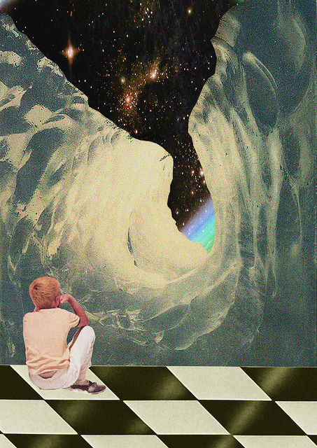 feru-leru:  el hecho de alejarse tanto y acercarse mas by Collage al Infinito by Trasvorder on Flickr.