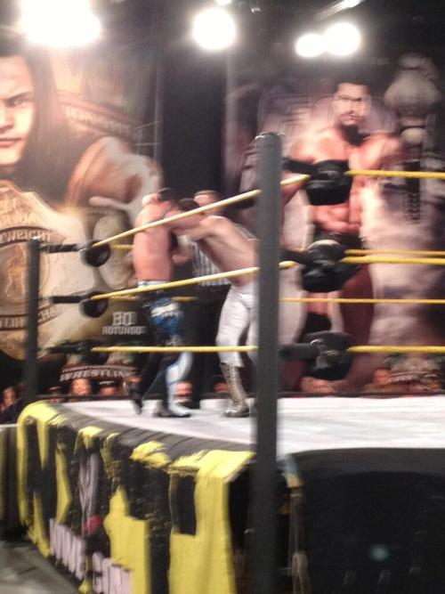 Evan Bourne returns to action at the NXT Live Event versus Sami Zayn (former El Generico). Photo credit to Lindsey.  Ohmyfuckinggod.