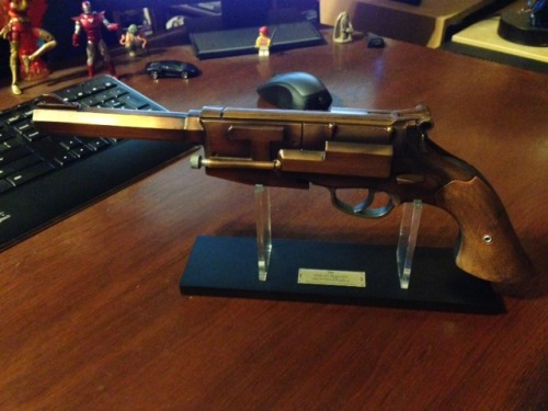 That is a 1:1 scale replica of Malcolm Reynolds' gun. Given to me by THE GREATEST GIRL EVER.