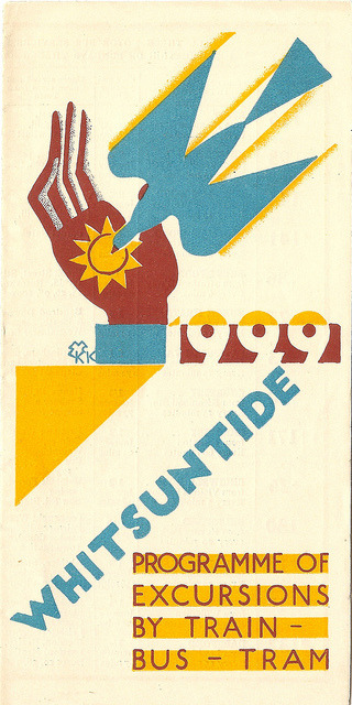 ideefixedujour:  London Underground Group - Whitsuntide 1929 leaflet, cover by Edward McKnight Kauffer by mikeyashworth on Flickr.