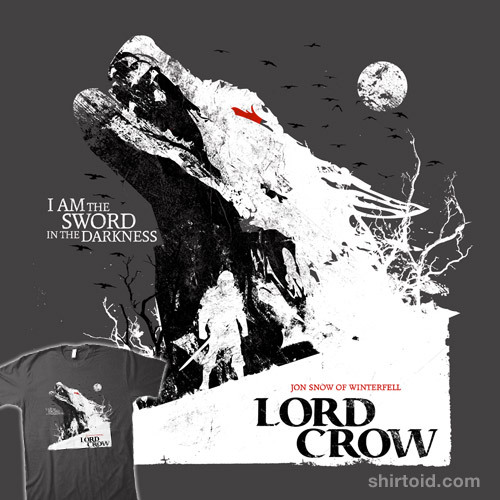shirtoid:  Jon Snow: Lord Crow by girardin27 is available at Redbubble