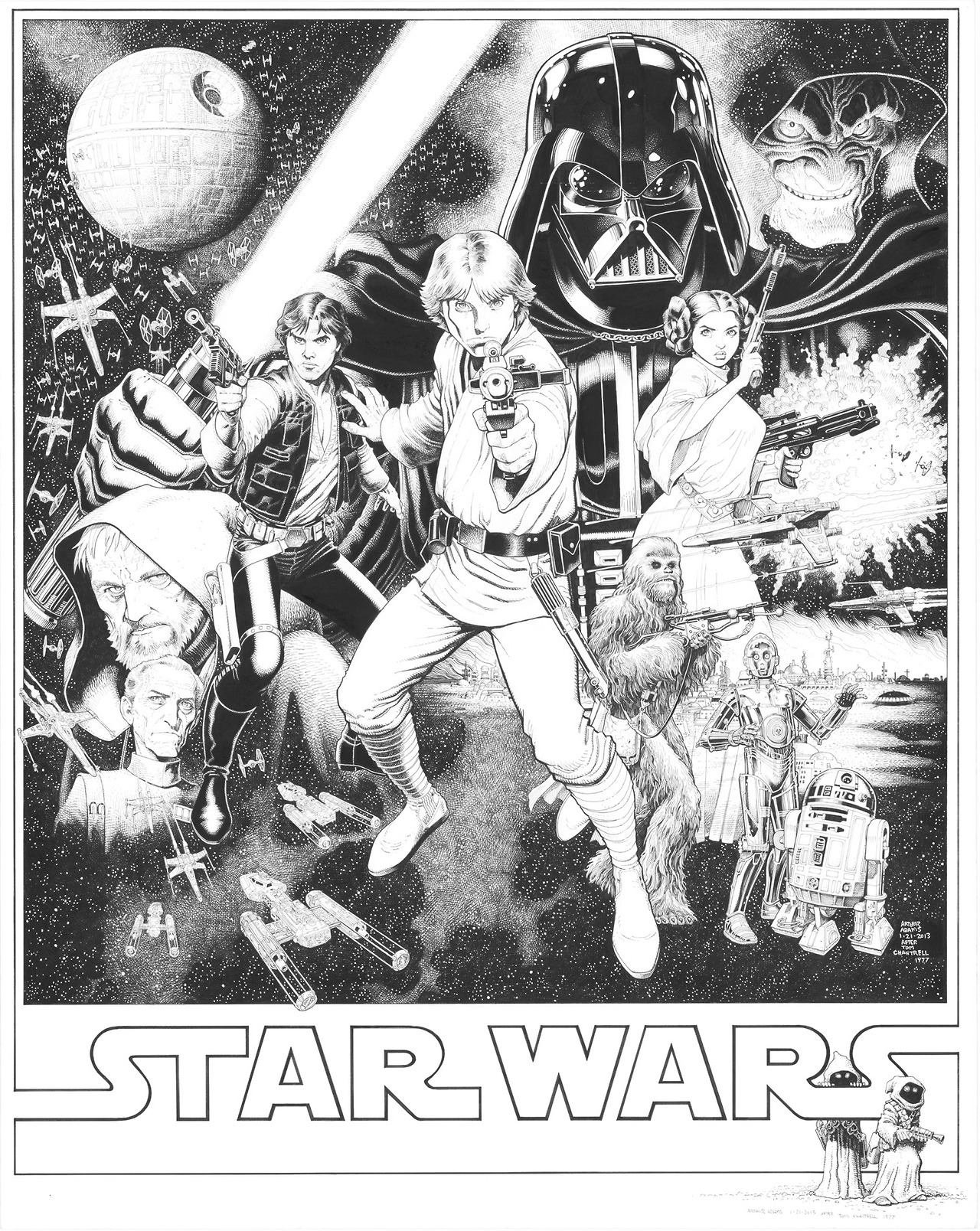 Art Adams draws an awesome Star Wars visual. [via Brian Michael Bendis]