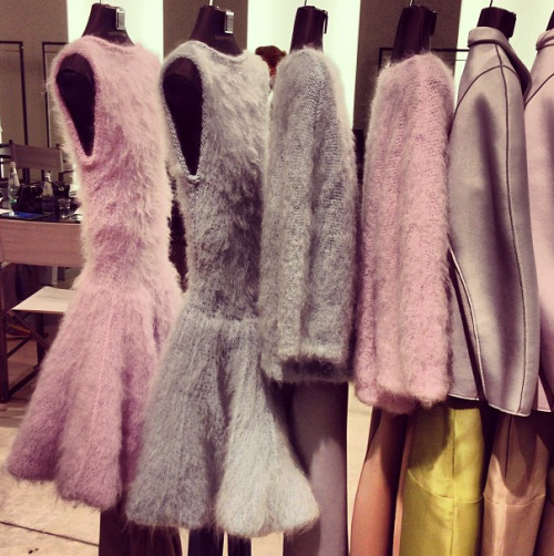 These fluffy knits remind us of cotton candy; good enough to eat!   Photographed by Sheena Smith