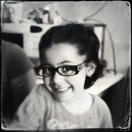 Little bugger now has glasses. She was as blind as a bat, poor thing.