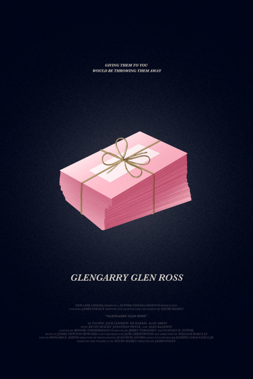 Because I've always wanted to, I illustrated a Glengarry Glen Ross poster.