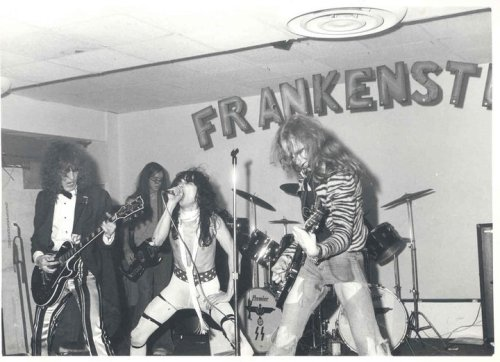 suicidewatch:  Pre-Dead Boys band, Frankenstein.  TOO COOL. ALSO, LOOK AT THE DRUMS HEADS.