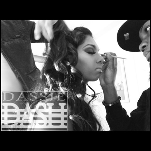 """Do what you love and you'll never work a day in your life!"" #dassiedash #mua ##hairstylist"