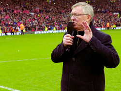 """First of all, it's a thank you to Manchester United. Not just the directors, not just the medical staff, not just the coaching staff, the players or the supporters, it's all of you. You have been the most fantastic experience of my life."" - Sir Alex Ferguson"