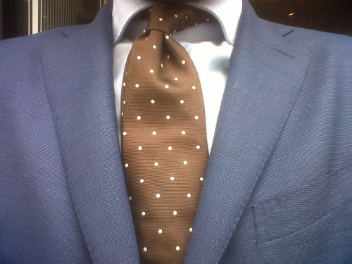 Yes, no pocket square.