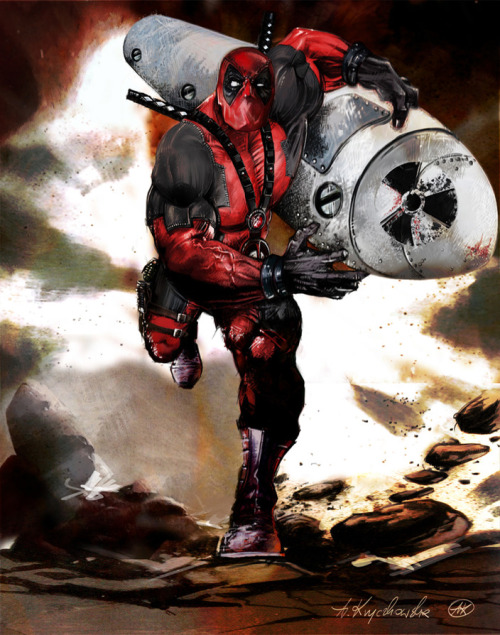 Deadpool in action ! by Anna Kryczkowska Artist website / deviantart