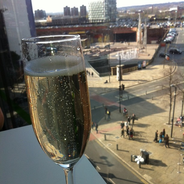 People watching in Harvey Nichols with a glass of Prosecco