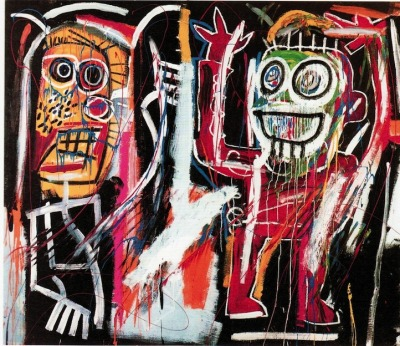"somethingtoseeorhear:  ""dustheads"" by jean-michel basquiat, 1982"