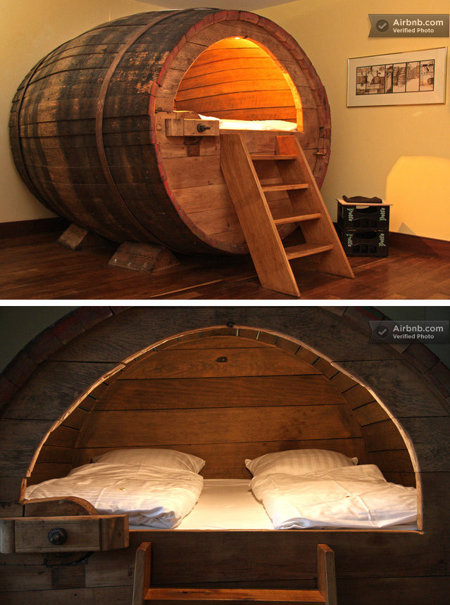 Beer barrel room