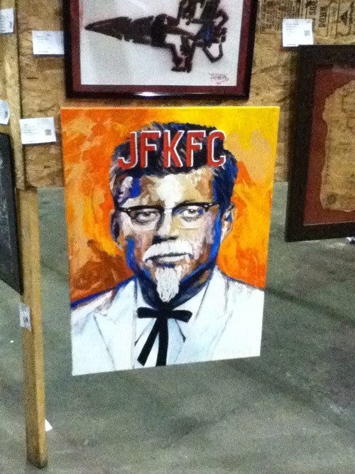KFC + JFK = JFKFC anybody? [John F. Kennedy Fried Chicken]