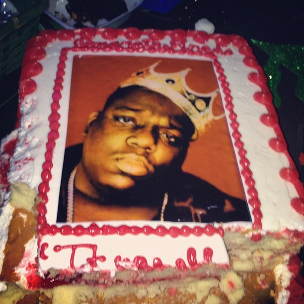 Why is Biggie on this cake?