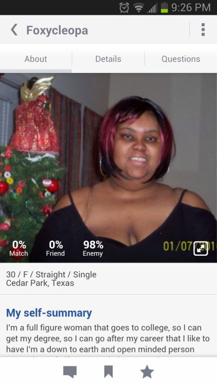 I found my arch enemy! That's what your suppose to do on okcupid right?