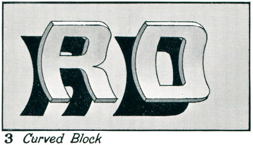 "newhousebooks:  ""Curved Block"" from the Art of Signwriting, 1954"