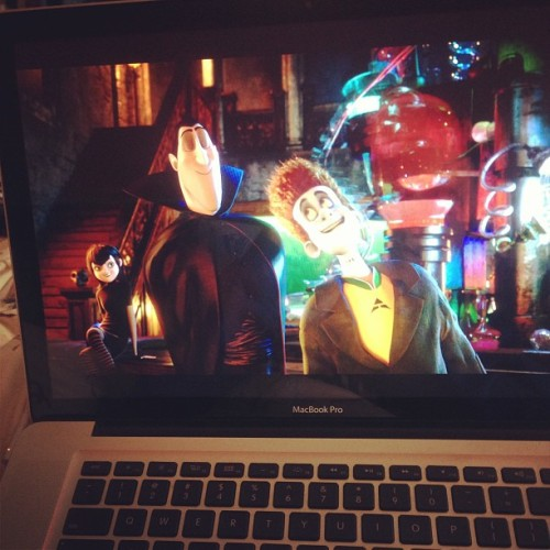 Watching Hotel Transylvania #disney #movie #cartoon (at Mesa Geitonia)