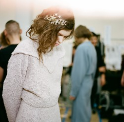 officialrodarte:  Zuzanna Stankiewicz Backstage at the FW12 Rodarte Show (photo by Autumn de Wilde).