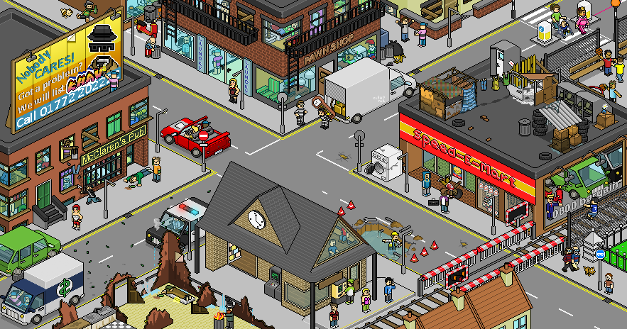 irnbru:  Da' Ghetto by ~SuperBarrio Some cool Isometric Pixel Art. I love this stuff, so much effort goes into making this kind of art and I really don't know how people like SuperBarrio have the patience.      (via TumbleOn)
