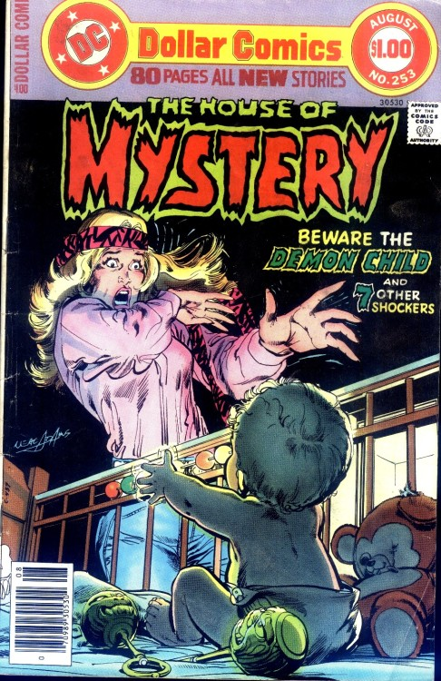 Happy Mother's Day, y'all. comicbookcovers:  House Of Mystery #253, August 1977, cover by Neal Adams