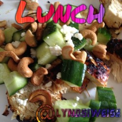 Day 1 of IF! I made grilled chicken, cucumbers, FF Feta, & cashews. 🍴 Yum. Lets get this weight off! #loseweight #weightloss #twinmomma #twinboys #getfit #getlean #pcos #eatclean #food #instafood #nutrition #nosugar #burnfat #sahm #wahm #newmom