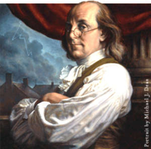 Ever notice how Ben Franklin always looks like someone just stole his parking space?