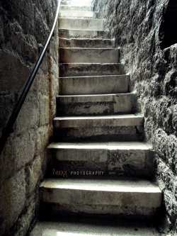 Stairs in the medieval walls of Dubrovnik Slodier On by ~7nexx