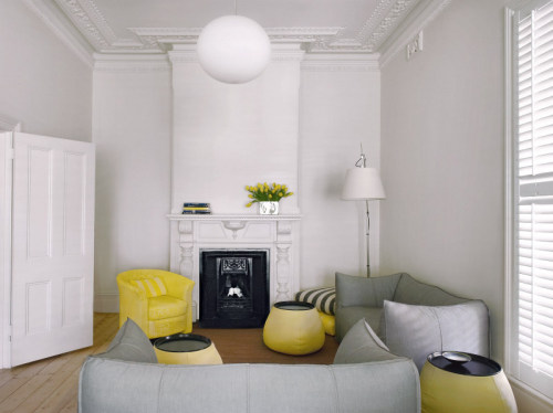 victorian + modern + yellow accents (via desire to inspire - Nexus Designs)