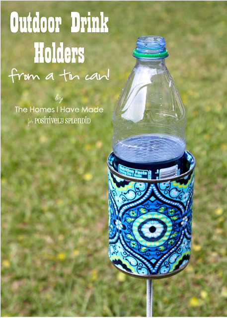 make your own drink holder for your next barbeque. easy and genius great for picnics!
