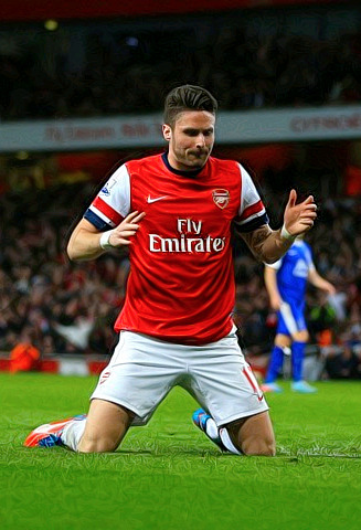 20/20 Extra pics of Olivier Giroud vs Everton.