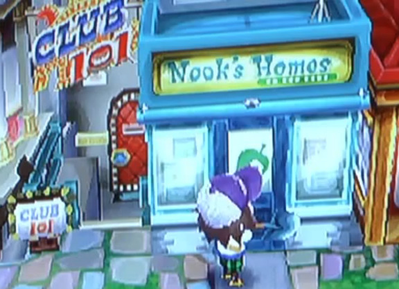 "oath2order:  One of the screenshots from a video of the new Animal Crossing game. ""Nook's Homos"""