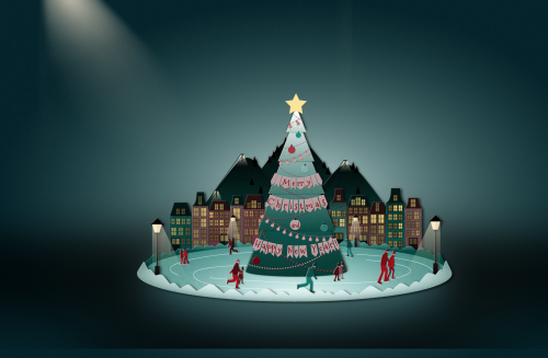Nice CSS 3d animation X-mas card. Merry X-mas to all.  http://marynaaleksandrova.info/labs/christmas-card/