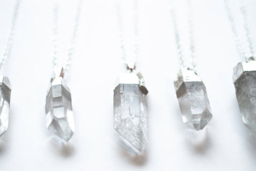 our-december:  Silver Dipped Raw Quartz Point