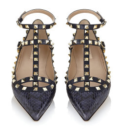 Thank you Mr Valentino. Valentino Rockstud Snakeskin Flat. £740.00 at Harrods.