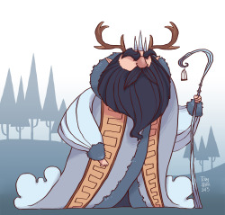 eatsleepdraw:  The Winter King, from my children's book. More here- http://zestydoesthings.tumblr.com/