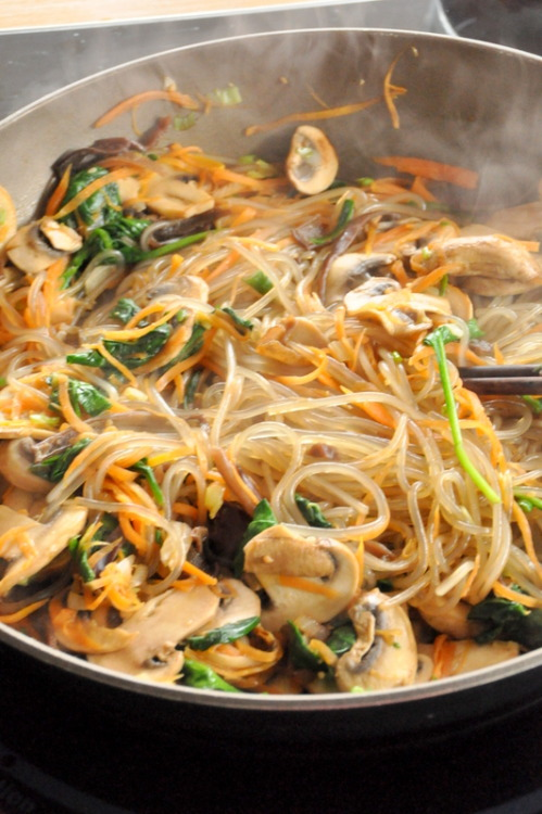 foodopia:  japchae, korean potato noodles: recipe here