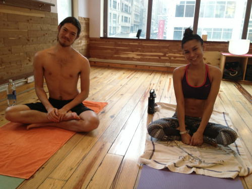 Yoga time with the homies Adam & Donna :)