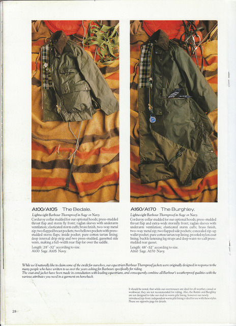 Barbour Catalog 1987 29 on Flickr.Barbour Catalog 1987.  The Jackets- a series.