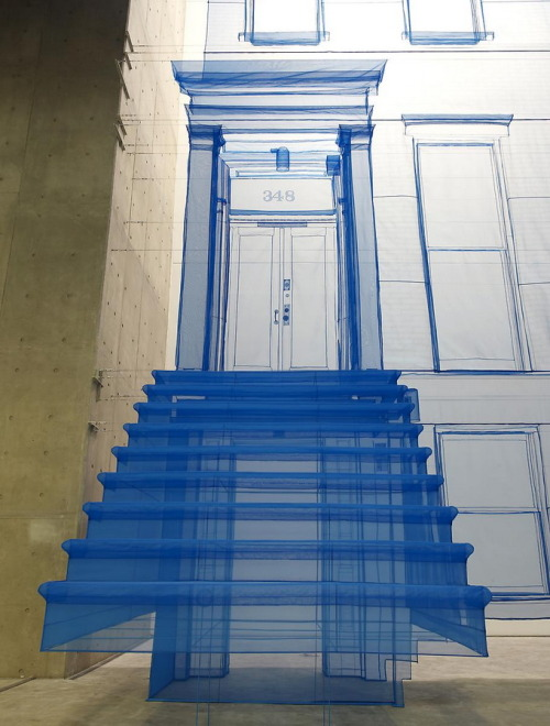 iheartmyart:  Installation works by Do Ho Suh (via charzblue)  Stairway To Heaven