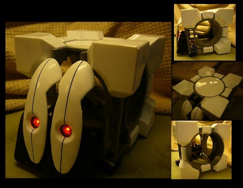 Frankenturret (Portal2) update - cube 95% finished by ~Corroder666 AND he put up step-by-step progress pics! This dude's my hero.