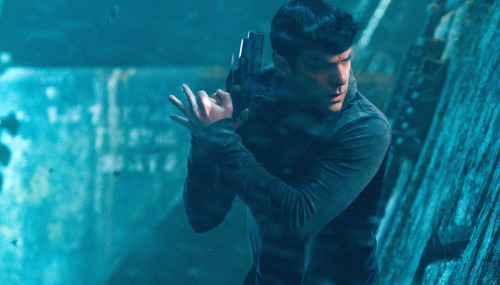 Zachary Quinto as Spock returns in J.J. Abrams' Star Trek Into Darkness. I've got a good feeling this movie is going to be The Dark Knight of 2013.