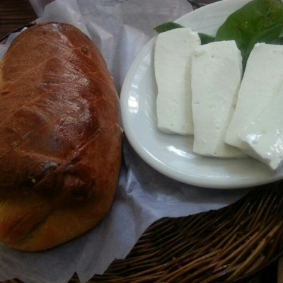 Kamote (Sweet Potato) Bread, Kesong Puti (Carabao Cheese), Cafe By The Ruins, Legarda Road, Baguio City, Philippines, December 2012. #food #foodporn #bread #cheese #philippines #pilipinas #itsmorefuninthephilippines #cafebytheruins #baguio #cordillera #2012 #imiss
