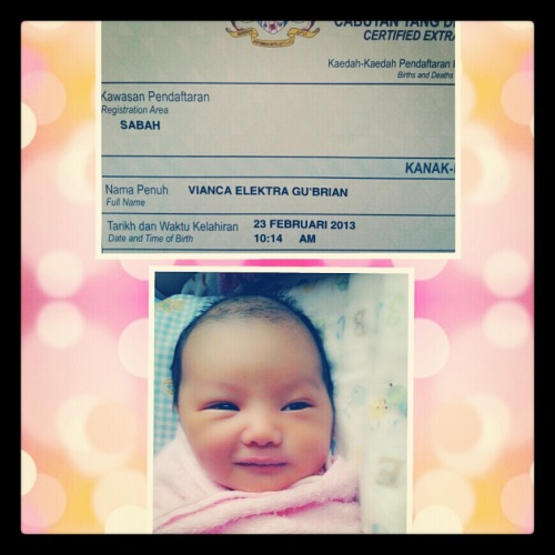 Helloe tmblr, i just gave birth to an awesome baby girl named Vianca Elektra Gu'Brian :)