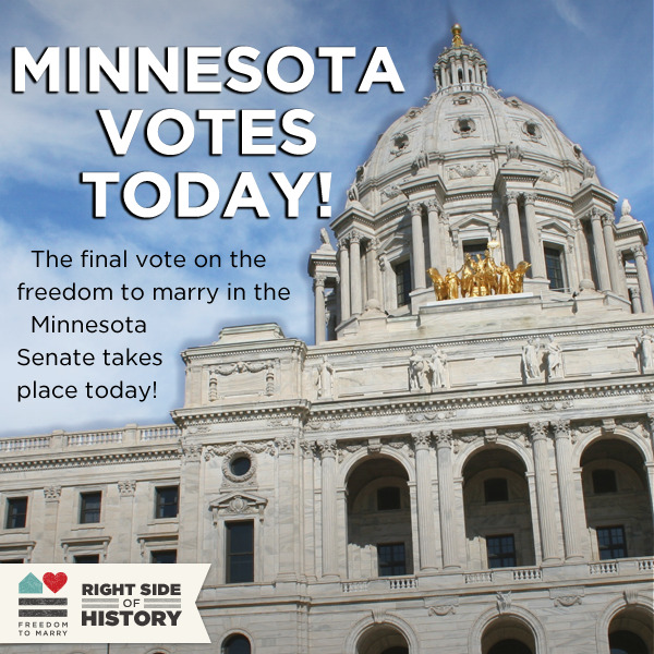 Reblog if you want Minnesota to become the 12th state where same-sex couples can share in the freedom to marry! http://bit.ly/14hsxBS