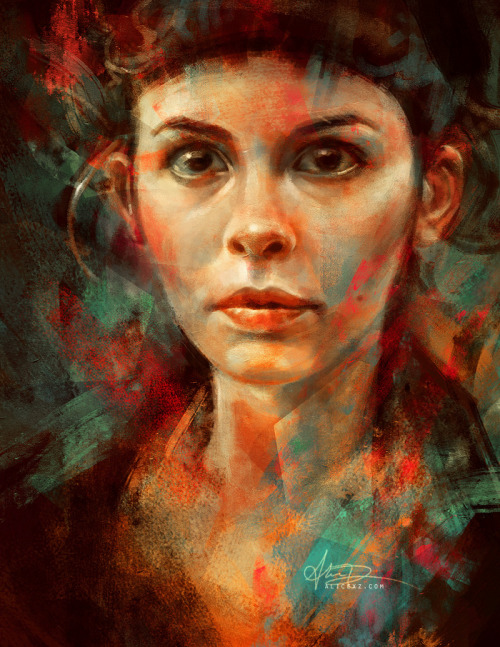 emmyc:  alicexz:  A warm-up painting. Inspired by Amélie.  one of my favorite movies in the world!!